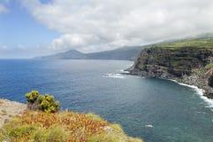 Landscape in Faial, Azores stock photo