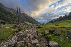 Landscape of Fairy Meadow at Beyal camp in a morning, Pakistan Royalty Free Stock Image