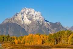 Landscape in Fall in the Tetons Royalty Free Stock Photography