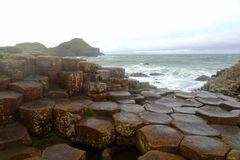 Landscape at the famous Giant´s Causeway in the north of Ireland royalty free stock photography