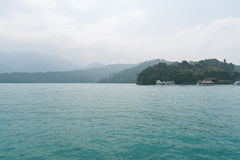 Landscape of famous Sun Moon Lake in the morning in Taiwan, Asia Stock Image