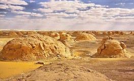 Landscape of the famous white desert in Egypt Stock Photos