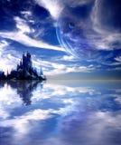 Landscape in fantasy planet vector illustration