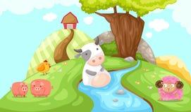 Landscape of farm stock illustration
