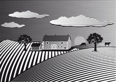 Landscape with farm Stock Image