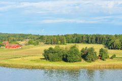 Landscape with farm Royalty Free Stock Photography