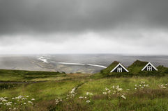 Landscape of farmhouse in Iceland Stock Photos