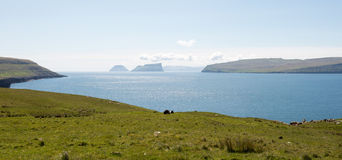 Landscape on the Faroe Islands Stock Image