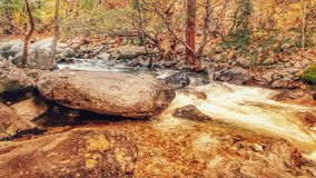 Fast mountain river, passing through the Mount Ida National Park royalty free stock image