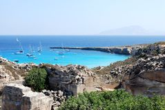 Landscape in Favignana Royalty Free Stock Photography