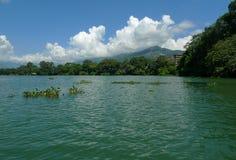 The landscape on the fee watt lake,pokhara,nepal Stock Photos