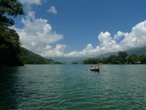 The landscape on the fee watt lake,pokhara,nepal Royalty Free Stock Images