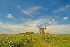 Landscape of the fens Royalty Free Stock Images