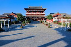 Fenyang Monarch Palace. The landscape of Fenyang Monarch Palace in Fenyang, Shanxi, China stock photos