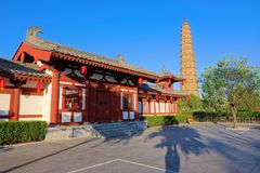Fenyang Monarch Palace. The landscape of Fenyang Monarch Palace in Fenyang, Shanxi, China stock image