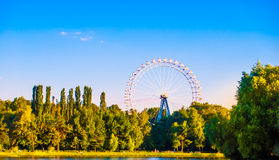 Landscape with ferris wheel Royalty Free Stock Photo