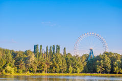 Landscape with ferris wheel Stock Images