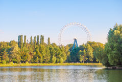 Landscape with ferris wheel Royalty Free Stock Image