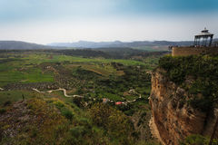 Landscape of fertile valley below Ronda, Spain Stock Photography