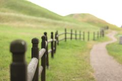 Landscape, Field, Fence, Wood Stock Photography