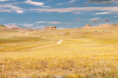 Landscape of field. In the mountain Stock Photos