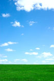 Landscape with field and sky Royalty Free Stock Photos