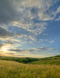 The landscape of the field with a spectacular sky Stock Image