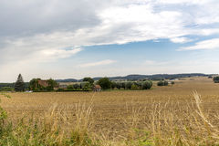 Landscape with fields Royalty Free Stock Photography