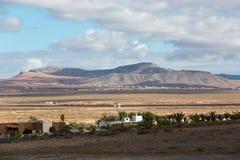 Landscape of fields and mountains near Antigua village, Fuerteventura Stock Photos