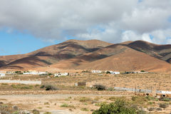 Landscape of fields and mountains near Antigua village, Fuerteventura, Stock Image