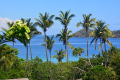 Landscape of Fiji. A tropical landscape of one of the Yasawa islands , Fiji royalty free stock photos