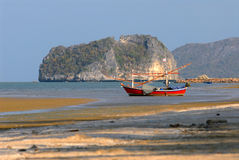 Landscape-Fishing boat. Royalty Free Stock Image