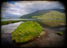 Landscape fishing and hiking trail in ireland Royalty Free Stock Photo