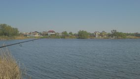 Landscape of the fishing place stock footage