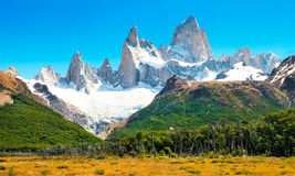 Landscape with Fitz Roy in Patagonia, Argentina. Scenic landscape with Mt Fitz Roy in Los Glaciares National Park, Patagonia, Argentina, South America royalty free stock photo
