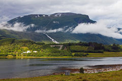 Landscape with fjord Royalty Free Stock Image