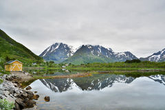 Landscape at a Fjord, Norway Stock Photography