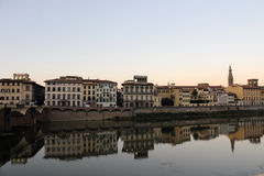 Landscape in Florence. Reflection of a Florentine landscape Stock Photography