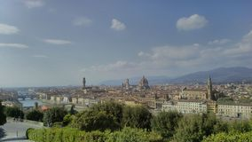 Landscape of Florence,Tuscany,Italy. View of the city of Florence with its most famous monuments: Santa Maria Novella,SantaMAria del Fiore  and Santa Croce Royalty Free Stock Image