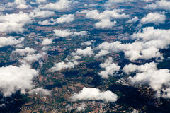 Above the clouds. Landscape flying above the clouds Royalty Free Stock Photos