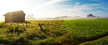 Landscape with Fog. An image of a beautiful landscape with fog in bavaria germany Stock Photography