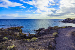 Landscape with Footpath on Tenerife Island Stock Photo