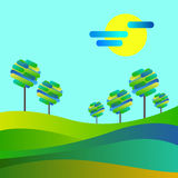 Landscape forest illustration background silhouette tre. Landscape forest illustration background royalty free illustration