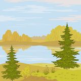 Landscape. Forest river Stock Photo
