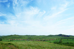 Landscape of forest-steppe Stock Photos
