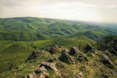 Landscape with Forested Hills Royalty Free Stock Photography