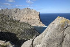 Landscape on Formentor; Majorca. Spain Royalty Free Stock Photography