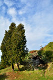 Landscape on the Fortress Hill Cetatuia in Cluj Royalty Free Stock Photo