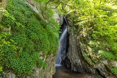 Landscape of Fotinovo waterfalls cascade Fotinski waterfall in Rhodopes Mountain, Bulgaria. Landscape of Fotinovo waterfalls cascade Fotinski waterfall in Royalty Free Stock Image