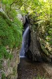 Landscape of Fotinovo waterfalls cascade Fotinski waterfall in Rhodopes Mountain, Bulgaria. Landscape of Fotinovo waterfalls cascade Fotinski waterfall in Royalty Free Stock Photos
